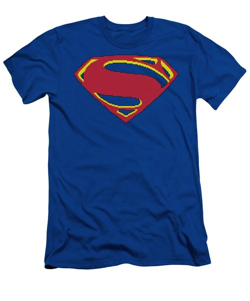 Man Of Steel - 8 Bit Shield Men's T-Shirt (Athletic Fit)