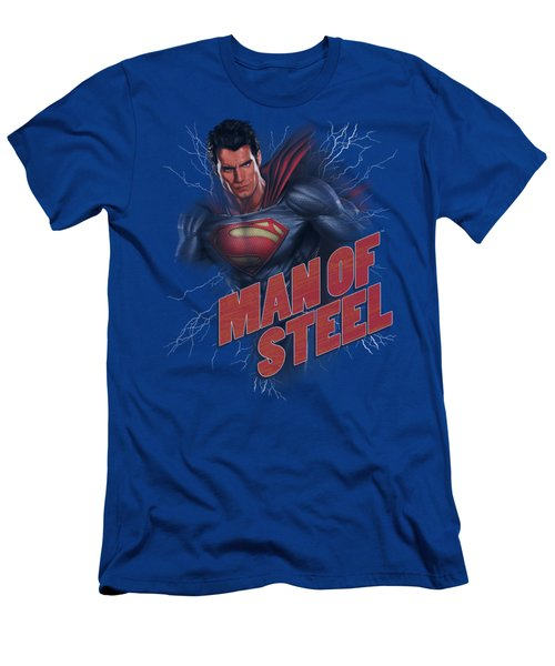 Man Of Steel - Lightning Power Men's T-Shirt (Athletic Fit)