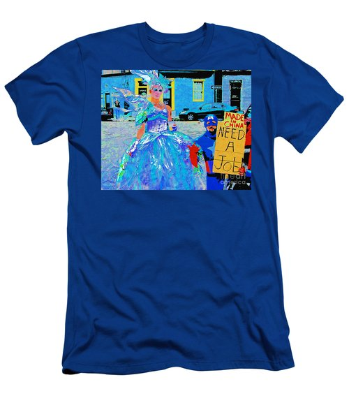 Men's T-Shirt (Slim Fit) featuring the photograph Mardi Gras New Orleans by Luana K Perez