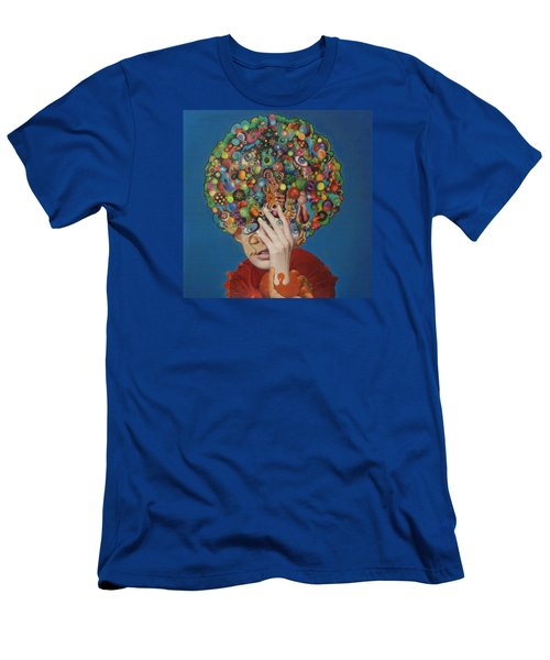 Men's T-Shirt (Slim Fit) featuring the painting Margarita Martini by Douglas Fromm