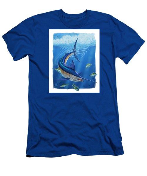 Men's T-Shirt (Slim Fit) featuring the digital art Marlin by Scott Ross