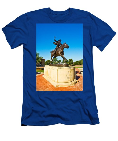 Men's T-Shirt (Athletic Fit) featuring the photograph Masked Rider Statue by Mae Wertz