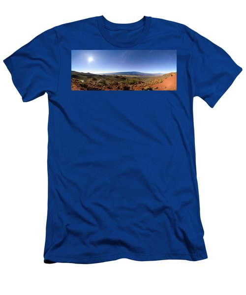 Mauna Loa Moonlight Panorama Men's T-Shirt (Athletic Fit)