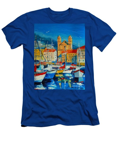 Mediterranean Harbor Men's T-Shirt (Athletic Fit)
