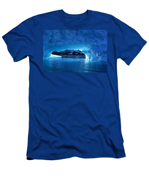 Melting Ice Cave Antarctica Men's T-Shirt (Athletic Fit)
