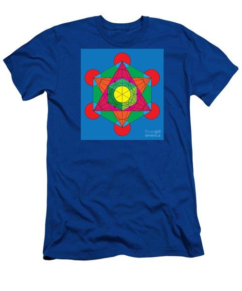 Metatron's Cube In Colors Men's T-Shirt (Athletic Fit)