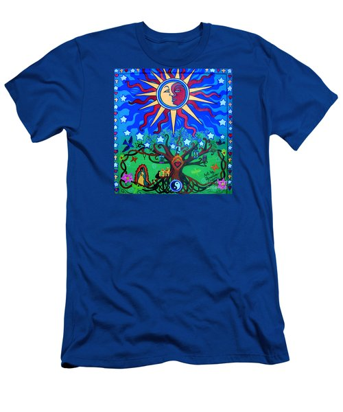 Mexican Retablos Prayer Board Small Men's T-Shirt (Slim Fit) by Genevieve Esson