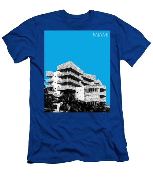 Miami Skyline Art Deco District - Ice Blue Men's T-Shirt (Athletic Fit)