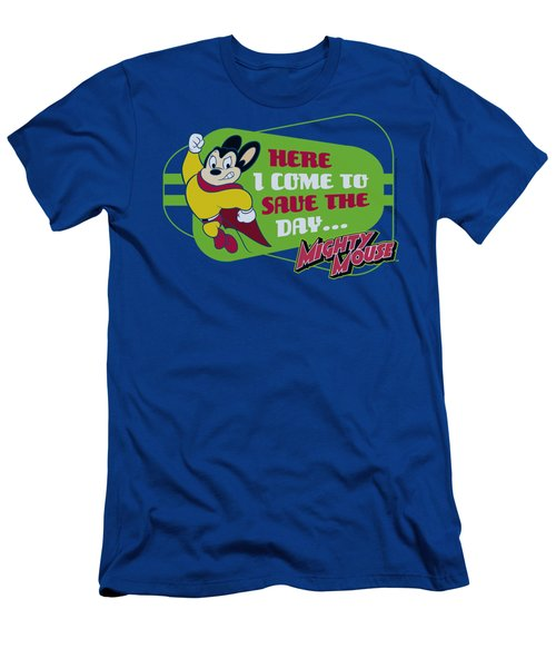 Mighty Mouse - Here I Come Men's T-Shirt (Athletic Fit)