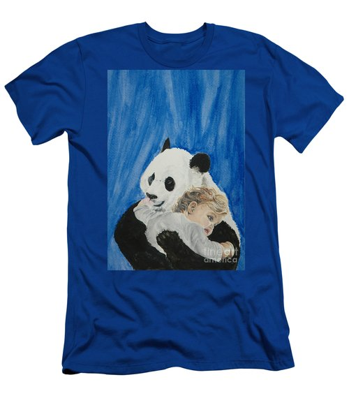 Mika And Panda Men's T-Shirt (Athletic Fit)