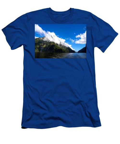 Men's T-Shirt (Slim Fit) featuring the photograph Milford Sound #2 by Stuart Litoff