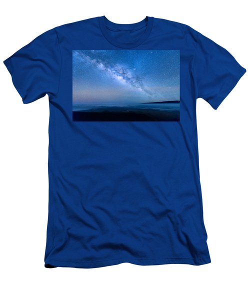 Milky Way Suspended Above Mauna Loa 1 Men's T-Shirt (Athletic Fit)