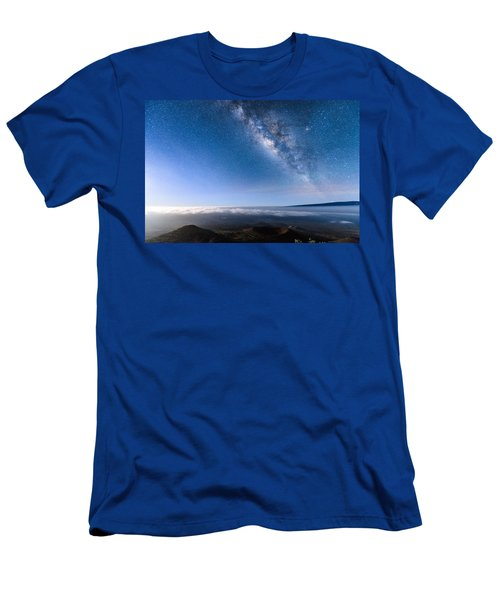 Milky Way Suspended Above Mauna Loa 2 Men's T-Shirt (Athletic Fit)