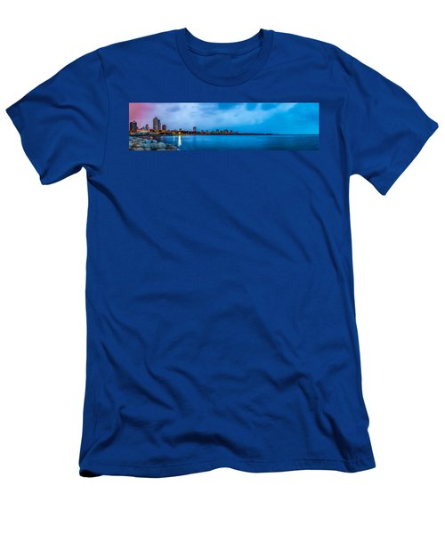 Milwaukee Skyline - Version 2 Men's T-Shirt (Athletic Fit)