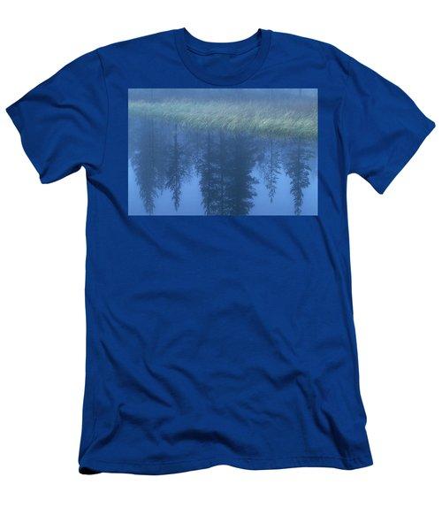 Misty Lake, Sweden Men's T-Shirt (Athletic Fit)