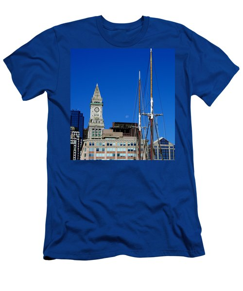 Moon Over Boston Men's T-Shirt (Athletic Fit)