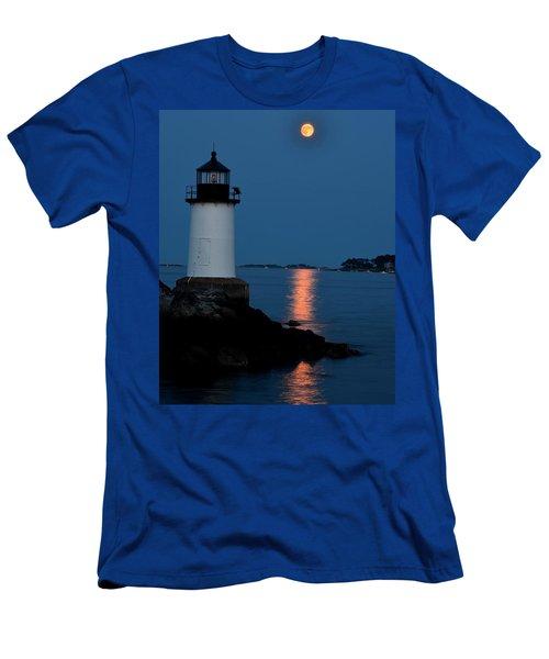 Moon Over Winter Island Salem Ma Men's T-Shirt (Athletic Fit)