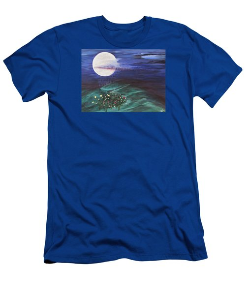 Moon Showers Men's T-Shirt (Slim Fit) by Cheryl Bailey