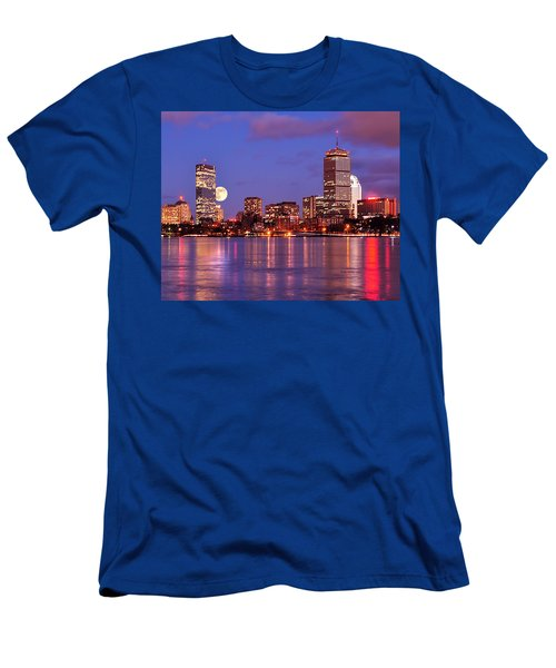 Moonlit Boston On The Charles Men's T-Shirt (Athletic Fit)