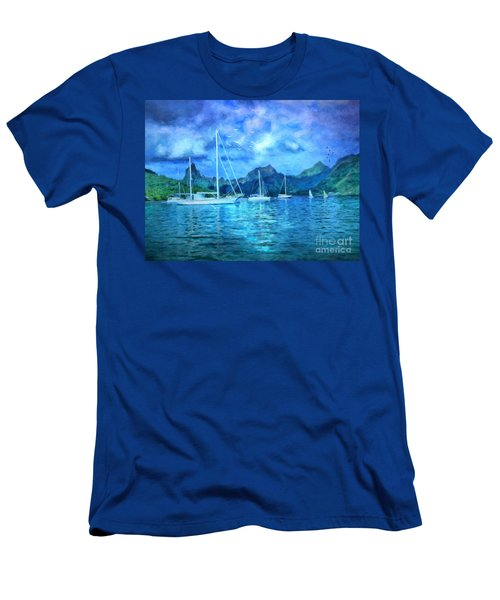Moonrise In Mo'orea Men's T-Shirt (Athletic Fit)