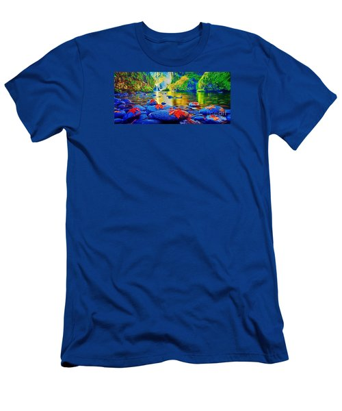 More Realistic Version Men's T-Shirt (Slim Fit) by Catherine Lott