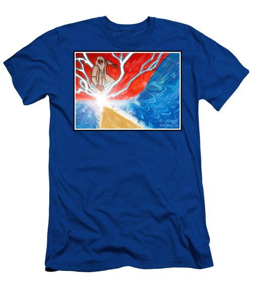 Men's T-Shirt (Slim Fit) featuring the painting Moses by Justin Moore