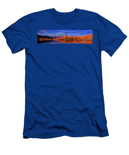 Mount Moran And Fall Color Grand Tetons Men's T-Shirt (Athletic Fit)