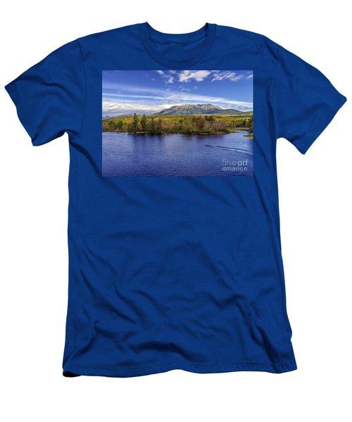 Mt Katahdin Hdr Men's T-Shirt (Athletic Fit)