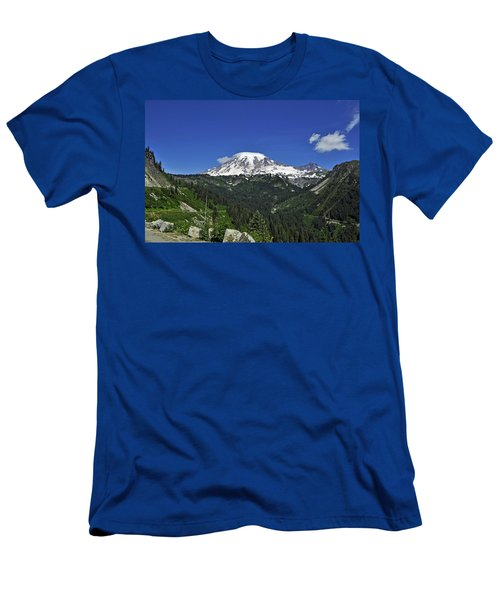 Mt Rainier Between The Valley Men's T-Shirt (Athletic Fit)