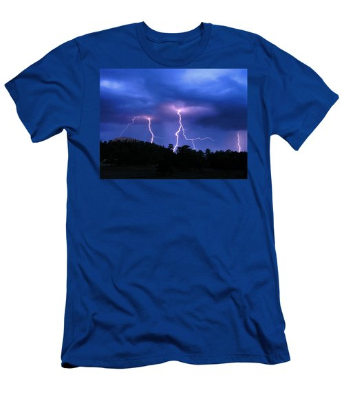 Multi Arc Lightning Strike Men's T-Shirt (Athletic Fit)