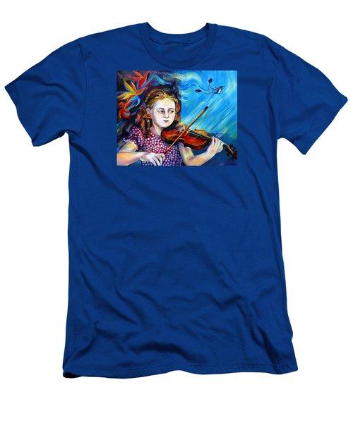 Music Lessons Men's T-Shirt (Slim Fit) by Anna  Duyunova
