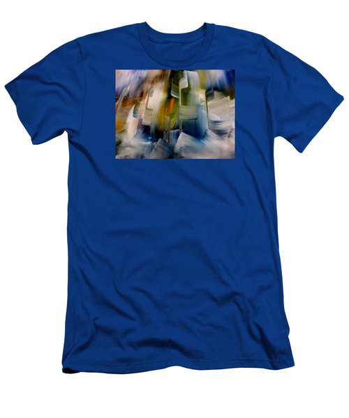 Men's T-Shirt (Slim Fit) featuring the painting Music With Paint by Lisa Kaiser