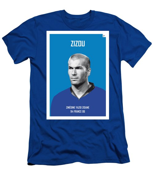 My Zidane Soccer Legend Poster Men's T-Shirt (Slim Fit) by Chungkong Art