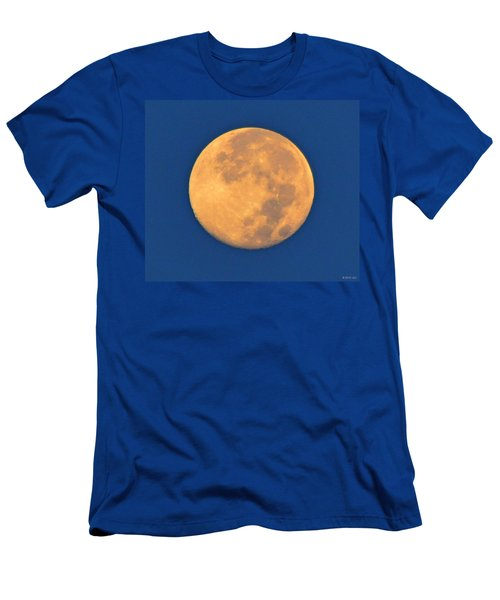 Navarre Beach Full Moon At Sunrise Men's T-Shirt (Slim Fit) by Jeff at JSJ Photography