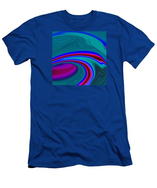 Neon Wave C2014 Men's T-Shirt (Slim Fit) by Paul Ashby