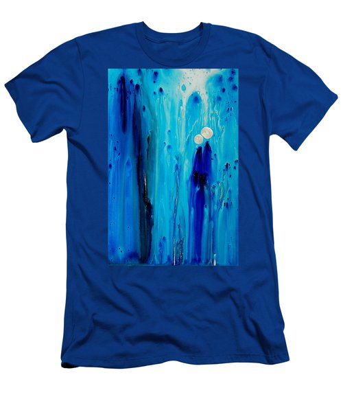 Men's T-Shirt (Athletic Fit) featuring the painting Never Alone By Sharon Cummings by Sharon Cummings