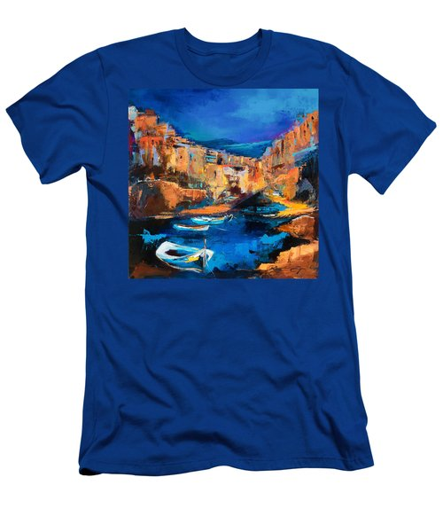 Night Colors Over Riomaggiore - Cinque Terre Men's T-Shirt (Athletic Fit)