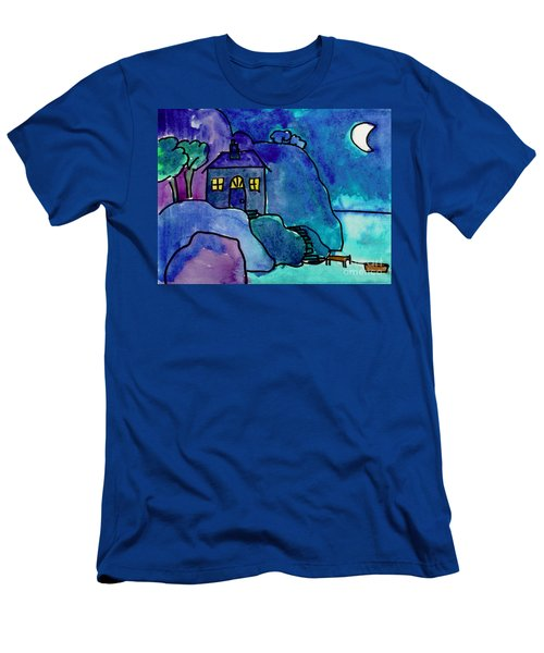 Night Harbor Men's T-Shirt (Athletic Fit)
