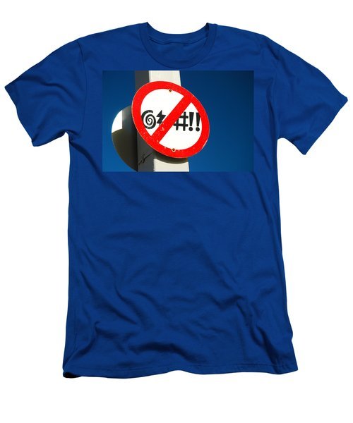 No Cursing Here Men's T-Shirt (Slim Fit) by James Kirkikis