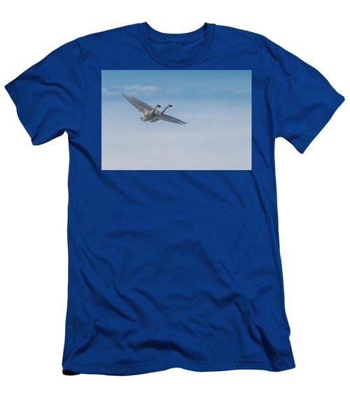 Trumpeter Swan Tandem Flight I Men's T-Shirt (Athletic Fit)