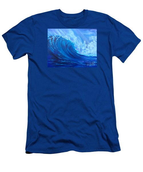 Men's T-Shirt (Slim Fit) featuring the painting Wave V1 by Jenny Lee