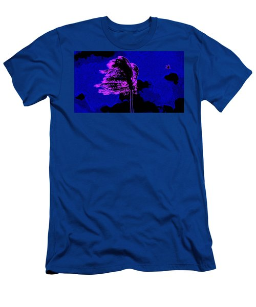 Men's T-Shirt (Slim Fit) featuring the painting Ocean Art 111 by David Mckinney