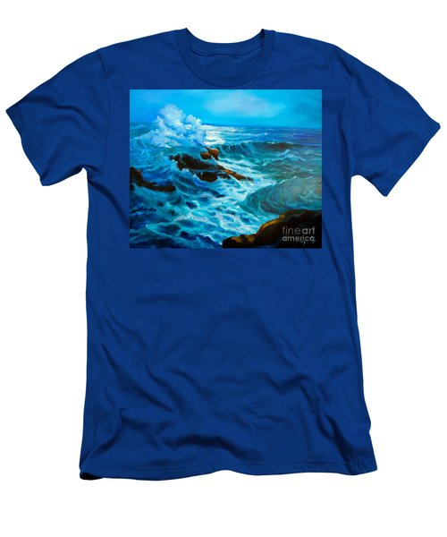 Men's T-Shirt (Slim Fit) featuring the painting Ocean Deep by Jenny Lee