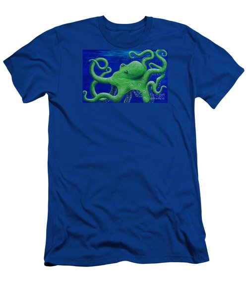 Men's T-Shirt (Slim Fit) featuring the painting Octohawk by Rebecca Parker