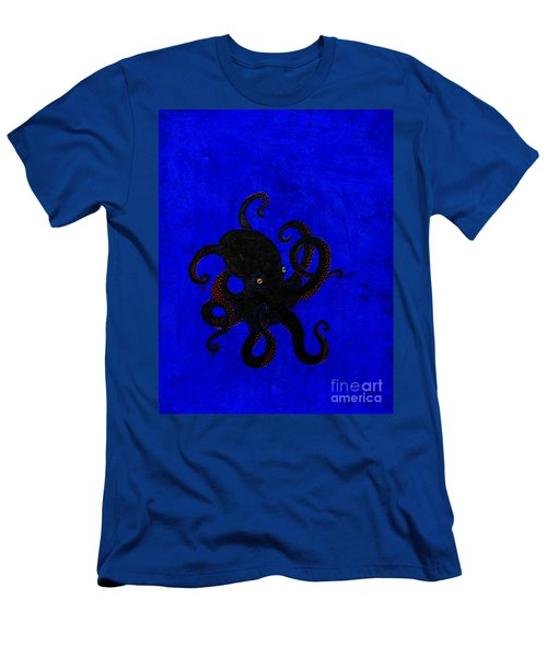 Octopus Black And Blue Men's T-Shirt (Slim Fit) by Stefanie Forck