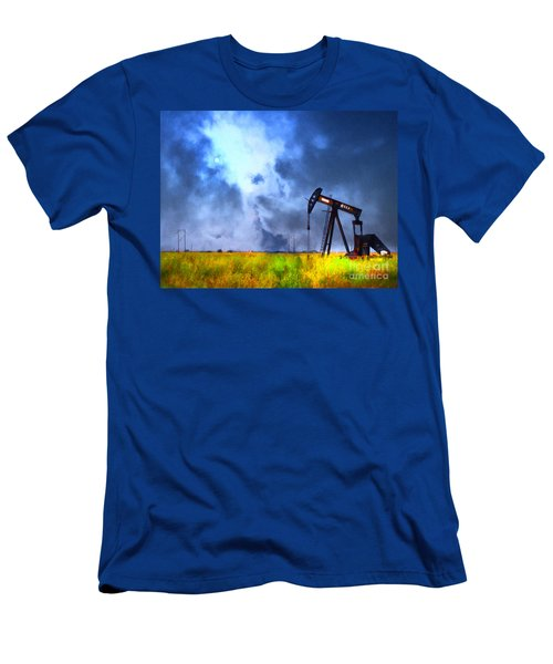 Oil Pump Field Men's T-Shirt (Athletic Fit)