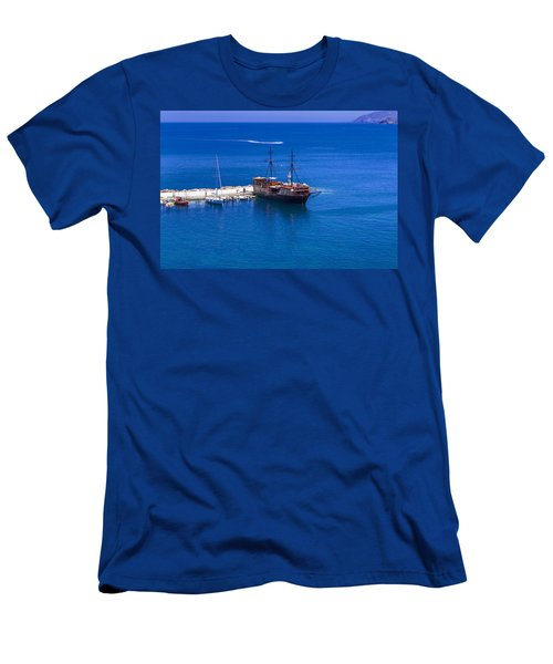 Old Sailing Ship In Bali Men's T-Shirt (Athletic Fit)