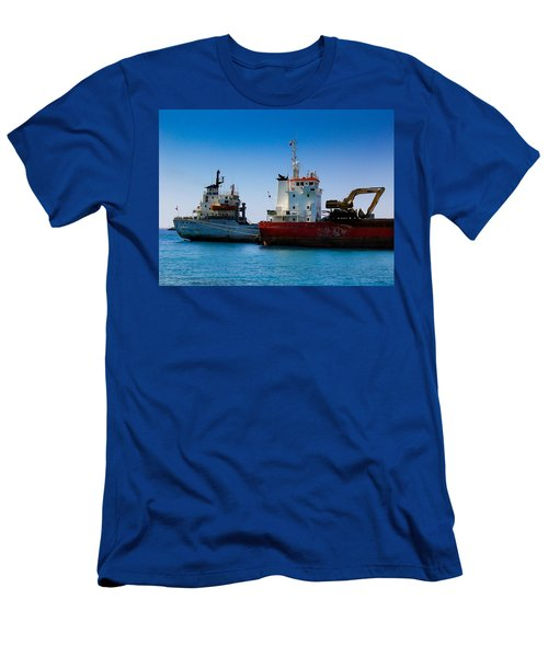 Men's T-Shirt (Slim Fit) featuring the photograph Old Ships by Kevin Desrosiers