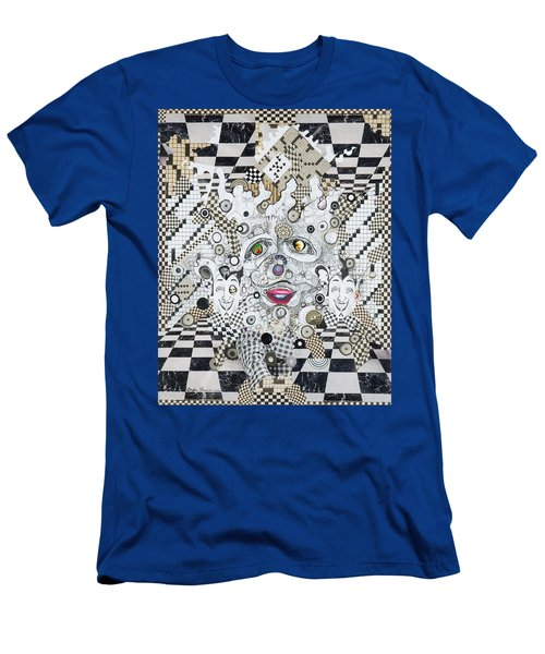 Men's T-Shirt (Slim Fit) featuring the mixed media Olive Eyes by Douglas Fromm