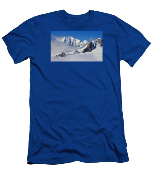 On Top Of The World Men's T-Shirt (Slim Fit) by Venetia Featherstone-Witty